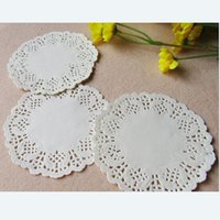 Wholesale quot mm White Round Lace Paper Doilies Doyleys Vintage Coasters Placemat Craft Wedding Christmas Table Decoration