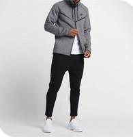 Wholesale Fitness Brands Coats - high quality new Brand Large size MEN'S HOODIE SPORTSWEAR TECH FLEECE WINDRUNNER fashion leisure sports jacket running fitness jacket coat