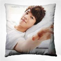 Wholesale korea pillow - Korea EXO Baek Hyun boyfriend Square Pillow sleep home Textiles Gift customized include the pillow inner
