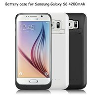 Wholesale Galaxy Power Bank - 1PCS Power Bank Case 4200 mAh External Battery Case With Retail Box For Samsung Galaxy S6 S6 Edge Plus Series