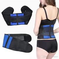 soporte trasero de neopreno ajustable al por mayor-Las mujeres de alta calidad Shapers ajustables de neopreno Lumbar Support Lower Back Waist Belt Brace alivio del dolor Double Pull Strap