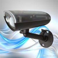 Wholesale Array Power - IP66 Waterproof Array LED Solar Power Infrared 5m PIR Motion Sensor Panel Outdoor Street Garden Fence Wall Lantern Light Lamp