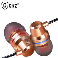 Wholesale Ear Fones - 2017 New Original QKZ DMI HIFI Earphones In Ear mobile Earphon Fone De Ouvido Auriculares Audifonos Gaming Headset Fones De Ouvido Earphones