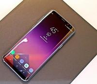 ingrosso android 4g smartphone quad core-5.8 pollici Goophone S8 + S8 Plus smartphone MTK6580 Quad Core 1GBRAM 16GBROM Curva schermo di buona qualità 8MP Back Camera Show 4G / 128G telefono a basso costo