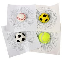 Wholesale Baseball Decals - Funny Car Window Decal 3d Sticker Ball Simulation Baseball Football Tennis C200 18.7*18.7 cm Personalized Exterior Decoration