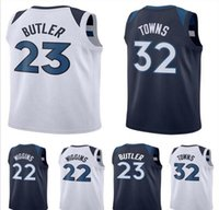Wholesale Mens Style Cheap - 2017 2018 New Style Cheap Mens #23 Jimmy Butler Jersey 22 Andrew Wiggins 32 Karl-Anthony Karl Anthony Towns Blue White Basketball Jerseys