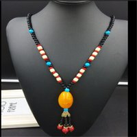 Wholesale Sweater For Women Sale - 22 Styles Vintage Ethic Style Long Chain Sweater Necklace For Sale Popular Bodhi Pendant Charm Statement Necklace For Women men