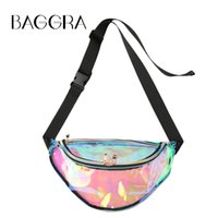 Wholesale New Transparent Bag - New Fashion Women Waist Bag Transparent Zipper Adjustable Straps Chest Bag Shoulder Bag White B0369B