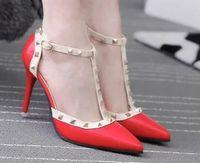Wholesale Sweet Mary Janes - wholesaler free shipping factory price hot seller platform diamond high heel shoe sweet fashion lady rivet women shoeI02