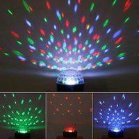 Wholesale Dj Laser Light Ball - Voice Control LED Crystal Magic Ball Light 6 Color Change Laser Stage Lighting Disco DJ Party Lights Sound-activated RGB Full Color Lamp