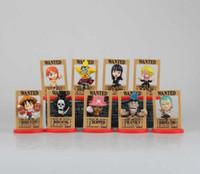 Wholesale Japanese Children Figures - New hot sale 9pcs set Japanese anime figure PVC toys Qversion One Piece Teleporter Arrest warrant 8CM gift for children