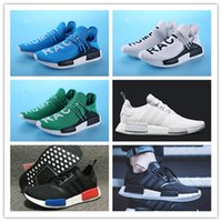 Wholesale R1 Racing - New NMD runner R1 boost high quality human race running shoes NMD Runner Pk Ultra Boost sneaker sports shoes size 36-44