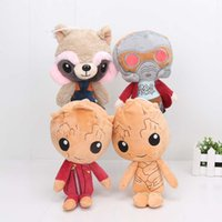 24cm Cartoon Guardians of the Galaxy Vol. 2 Poupées en peluche Star Lord Rocket Racoon Groot Farcies Jouets pour enfants Cadeau de Noël
