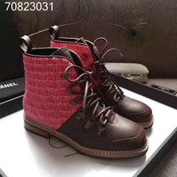 Wholesale Motorcycle Style Boots Women - 2017 NEW style genuine leather Winter Boots Martin Shoes Men&Women Short boots Luxury Designer fashion brand Motorcycle Boots Size 35-40