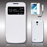 Wholesale S4 Case Sleep - Smart Cover Case for Samsung Galaxy S4 Mini I9190 Protective Cases+Stylus Pen +Screen Protector With Sleep Function