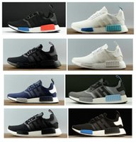 Wholesale Tassels Red Color - 10+color NMD Runner R1Triple black White Blue red pk 3M Primeknit Men Women nmds boost Running Shoes sport Shoes Sneakers Eur 36-45