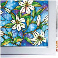 Wholesale Green Orchids Wholesale - Privacy Window Film PVC Orchid Dolphin Frosted Stained Glass Paper No Glue Self Static Cling European Art Style 10 5gf F R