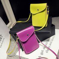 Wholesale Multi Color Mini Hearts - Multi feature phone wholesale bag hanging neck color edge cute Purse Mini diagonal bag retro Shoulder Bag Handbag