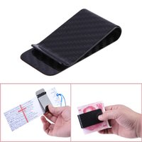 Wholesale Business Card Options - New Polished and Matte for Options Real Carbon Fiber Money Clip Business Card Credit Card Cash Wallet F16122075