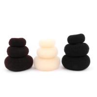 saç şekillendirici halka şekerleme toptan satış-1 ADET Yeni Moda Kadınlar Lady Sihirli Şekillendirici Donut Saç Halka Bun Aksesuarları Styling Aracı S / M / L