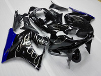 Wholesale Zzr Fairing Dark Green - Aftermarket silver flames ABS Fairing For Kawasaki ZZR 1200 2002-2005 ZZR1200 02 03 04 05 Motorcycle Body Kit