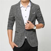 mens business casual suit ceket toptan satış-Suits erkekler yüksek kalite Erkek casual Suit Blazers eğlence Ceket moda Blazer Ceket Düğme suit İş erkekler Resmi suit ceket