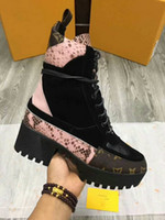 Wholesale Leopard Chunky Heels - Women's boots, new fashion lace-up boots, high quality leather and heavy sole Martin boots, anti-skid and high quality options
