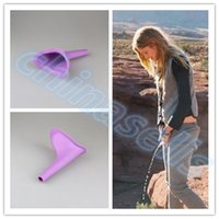 Wholesale female urinal camping - Women Urinal Travel kit Outdoor Camping Soft Silicone Urination Device Stand Up & Pee Female Urinal Toilet