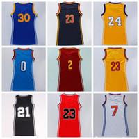 Wholesale Women Jersey Dress Basketball - Women Basketball Dress Skirt Jersey Shirt #30 #23 #2 #11 #24 #7 #0 With Player Name Team Logo Woman Basket ball Uniforms Sportswear Quality