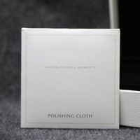Wholesale Wholesale Sterling Silver Cleaning Cloth - 925 Sterling Silver Polishing Cloth Fashion Women Jewelry Cleaning Polish European Style For Bracelet Necklace 10X10CM