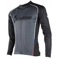 Wholesale Maillot Cube - New Cube Cycling Clothing Men Tour de france Cycling Jersey long sleeve jacket bike mtb maillot Ropa Ciclismo hombre Bicycle Clothes A1901