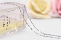 Wholesale Sterling Silver Wave Chains - 2016 new 925 sterling silver necklace water waves ripple chain children silver pendants jewelry necklace,sterling-silver-jewelry oem