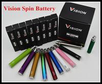 Wholesale Ecigarette Ego C Twist - NEW Arrival Vision Spin Battery Ego-c twist ecigarette battery 650 900 1100 1300mah Variable Voltage 3.3-4.8V