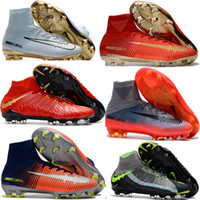 Novo Mercurial Superfly CR7 V ACC FG Mens Kids Women Botas de futebol Venda Cheap EA Sports Superflys High Top Ankle Soccer Cleats Shoes