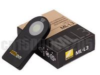 Wholesale Wireless Dslr - Wholesale- ML-L3 MLL3 Wireless Camera Shutter Remote Control For DSLR V2 J2 J3 D90 D3200 D7100 D7000 D5300 D5200 D300 D610 D600