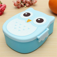 Wholesale Cute Food Containers - Portable Children Cute Cartoon Lunch Box Storage Bag Owl Food-safe Food Picnic Container Picnic Carry Tote