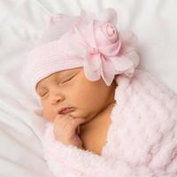 Wholesale white baby beanie - Baby Flower Hat Newborn Girl Cotton Beanie Cap Flower Infant Spring Hat Children Accessories Hot Sale
