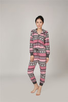 Wholesale Polar Long - Women's Home Wear Jumpsuit Super Soft Polar Fleece Jumpsuit Women's Nightwear Long Sleeve Sleepwear.