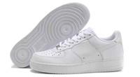 sapatilhas de obrigação venda por atacado-Sapatos Nova Marca Popular Preto Branco Sapatos Baixos Bond Casal Sapatos de Skate Homens Land Sneakers Forces One 1 Botas de Lona Clássica