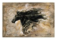 Black Beauty Art par Marta Wiley cheval noir, peinture à l'huile d'art animal peint à la main pure sur toile.customized size accepted, skeb