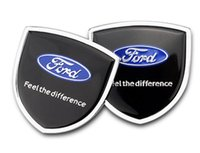 1pair 39x39mm Car Styling Wolf Ford Zinc Alloy Car Side Sticker Crachá Emblema adesivo de carro Mark High Qulity caber para Ford
