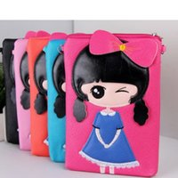 Wholesale Princess Design Kids Cartoon Gift - Wholesale- high quality cartoon princess design mini pu coin purse for girls purses kids handbags phone bags Messenger bag party gift