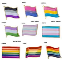 Wholesale Free Pin Buttons - Gay Pride Intersex Pride Badge Pin 10pcs a lot Free shipping