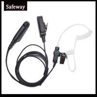Wholesale Radio Walkie Talkie Kit - Walkie talkie FIB acoustic tube surveillance kit earpiece for Motorola two way radio GP328 GP338 GP340 HT750 PRO5150