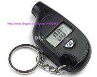 300pcs Mini Keychain LCD Écran Numérique Tire Tire Air Pressure Gauge Tester Key Ring pour Auto Car 5-150PSI Bike Motorcycle 0001