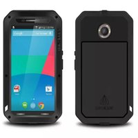 Wholesale Nexus Case Waterproof - For Motorola Google Nexus 6 Love Mei Powerful Case Waterproof Shockproof Aluminum Case Cover + Tempered Glass free shipping