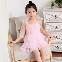 Wholesale Tencel Chiffon - wholesale summer Children's clothing Girl's Dresses Lace skirt Dress skirt Big boy Student installed lovely Big skirt Princess pink