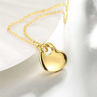 Wholesale Gold Heart Shaped Pendant Necklace - Necklace Sets Shining Necklaces Pendants Golden Heart-Shaped Fashion K Gold Hot Sale Necklace Ms. Festival Gift