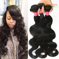 Wholesale Ms Lula Hair - 8A Brazilian Virgin Body Wave Hair 4Bundle Deals Brazilian Body Wavy Hair Weft Unprocessed Brazilian Human Hair Weave Ms Lula Best Sale