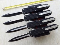 Wholesale Hunting Knifes Sheath - Microtech Combat Troodon D07 double action out the front automatic knives Katana Tri-Grip Pocket knife EDC Tactical knife with sheath